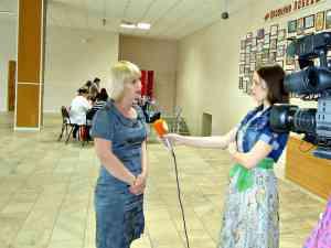 """интервью для ТРК """"Показывает Кирсанов"""" главный специалист Е.Семишкина"""